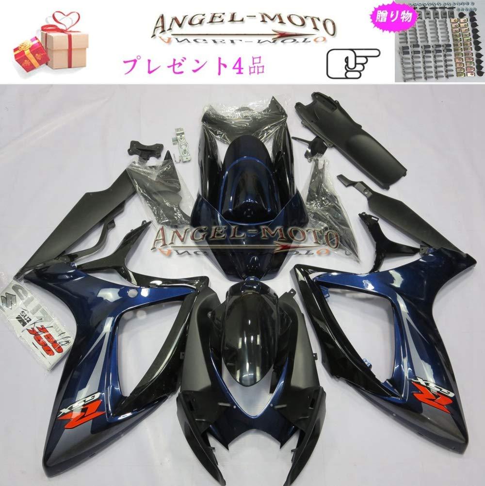 Angel-moto バイク外装パーツ 対応車体 Suzuki スズキ GSXR600 GSXR750 K6 2006 2007 GSX-R600 GSX-R750 06-07 カウル フェアキット ボディ機械射出成型ABS樹脂 フェアリング パーツセット フルカウルセットの S113   B07JMFJGMB