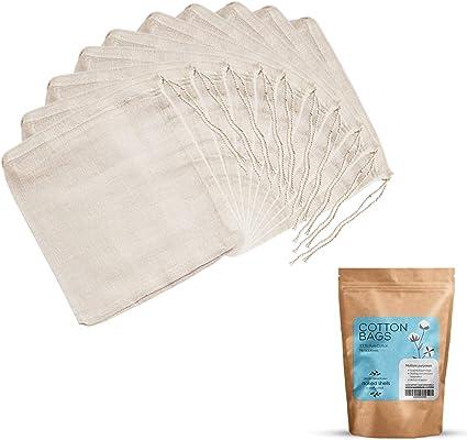 NAKED SHELLS Bolsas de 100% algodón con Cuerdas Multi Pack (Pack ...