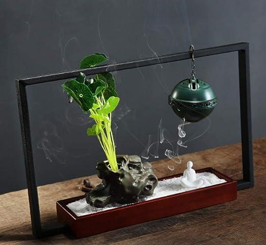 Quemador de incienso de reflujo Adornos Zen Horno de aromaterapia ...
