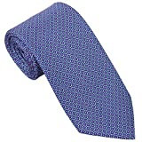 Sebastien Grey Men's 7-Fold Silk Tie (Lavender Navy Stained Glass)