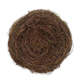 2Pcs 8'' Natural Rattan Birds Nest Spring Decoration Props Garden Yard Home