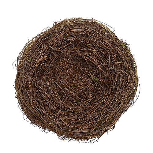 2Pcs 8'' Natural Rattan Birds Nest Spring Decoration Props Garden Yard Home by Gardeningwill