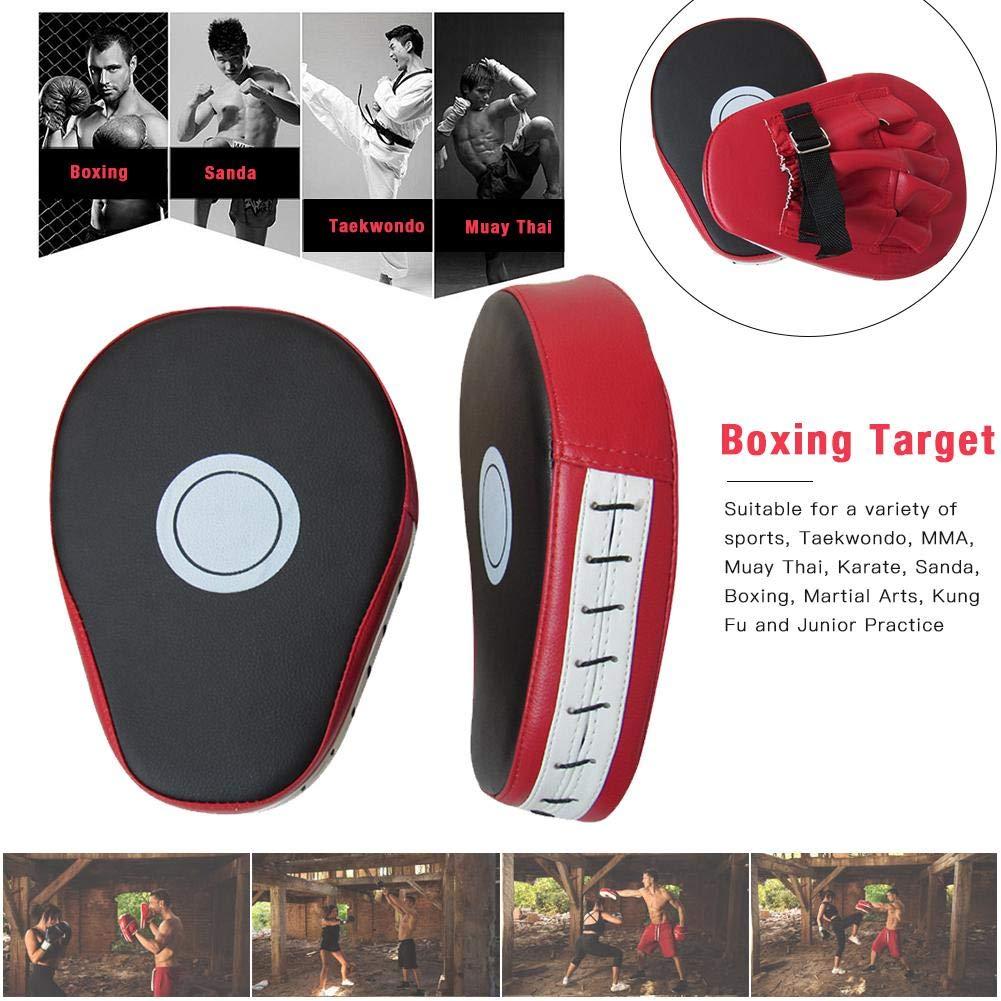 Shock Prevention Muay Thai Boxing Target luckything Cuero de PU Boxeo Taekwondo MMA Karate Target Focus Entrenamiento de Boxeo Taekwondo Kick Mat