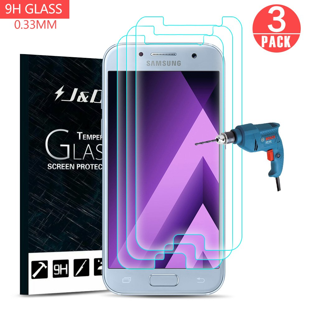 Galaxy A5 (2017) Protector de Pantalla (3 Paquetes), J&D [Cristal ...