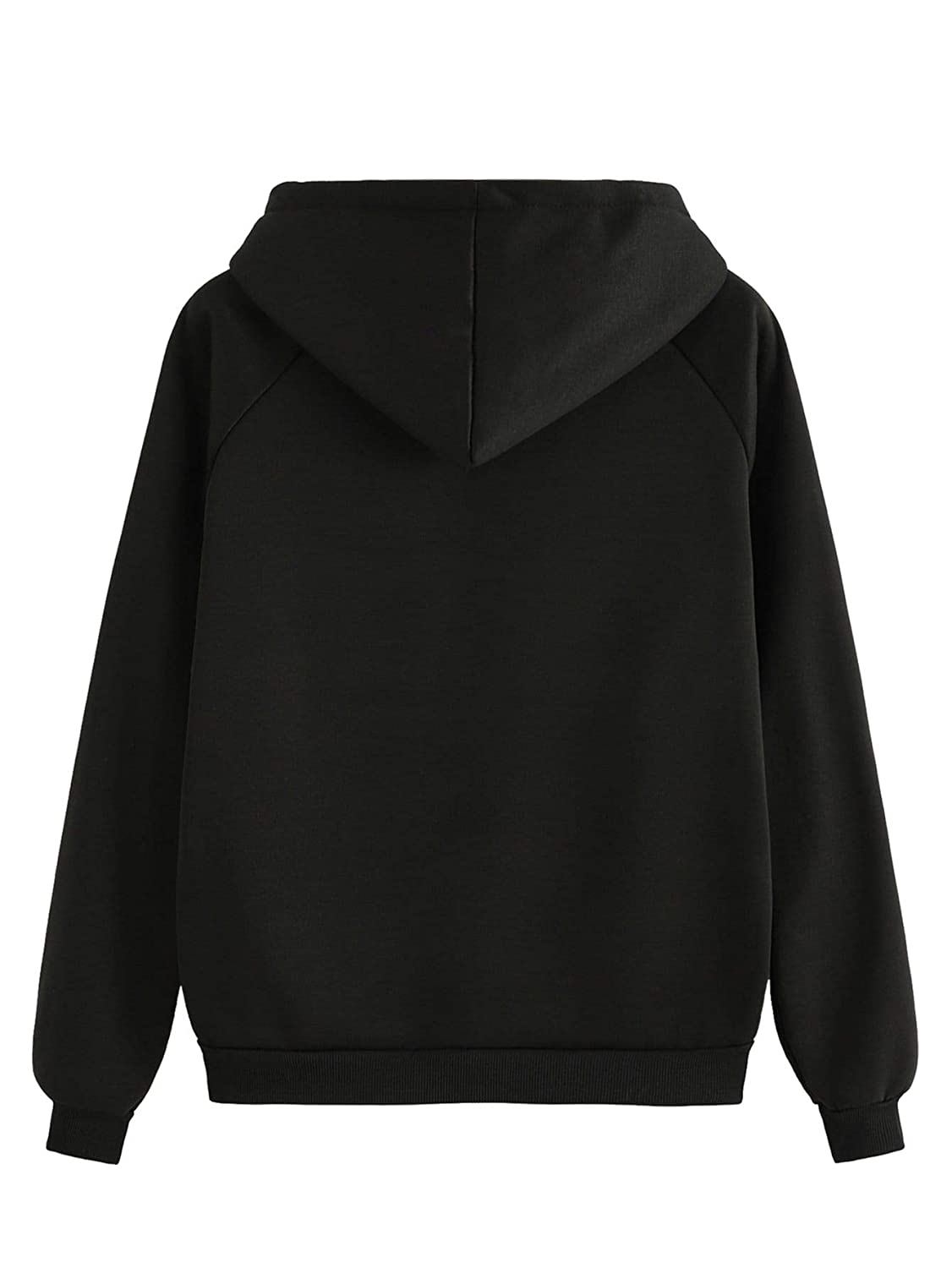SOLY HUX Womens Solid Hooded Drawstring Zip Up Long Sleeve Casual Basic Sweatshirt Jacket