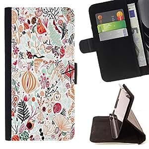 """For Sony Xperia Style T3,S-type Aves detalladas del arte abstracto"""" - Dibujo PU billetera de cuero Funda Case Caso de la piel de la bolsa protectora"""