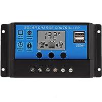 10A Solar Charger Controller Solar Panel Battery Intelligent Regulator with USB Port Display 12V/24V