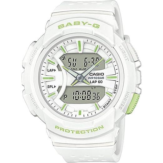 Casio Reloj Analogico-Digital para Mujer de Cuarzo con Correa en Resina BGA-240-7A2ER: Amazon.es: Relojes
