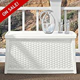 Patio Storage Trunk Coffee Table Deck Box With Lids In White Wicker Modern Furniture Multifuncal Container Poolside Cushion Toy Storing Bistro Garden Outside Backyard Dining And eBook By NAKSHOP