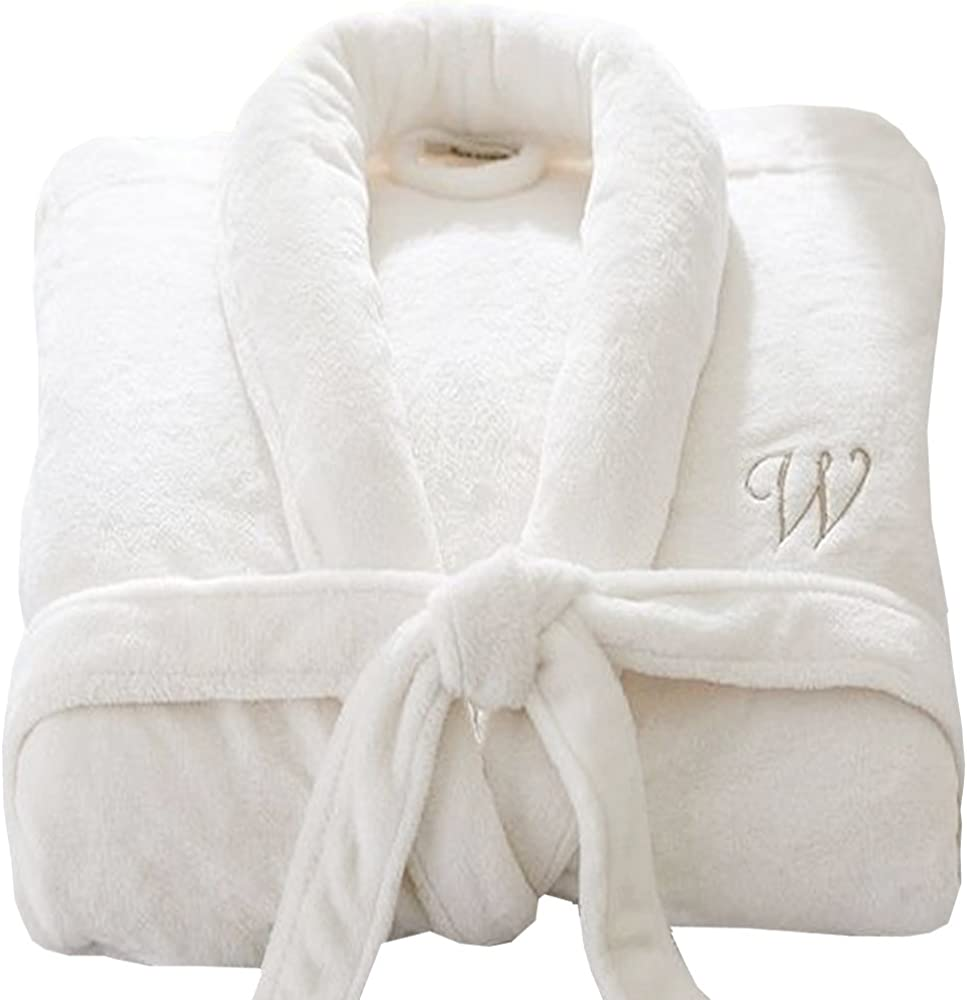 Luxury Personalised Embroidered White ladies dressing gown SOFT TOUCH Gorgeous