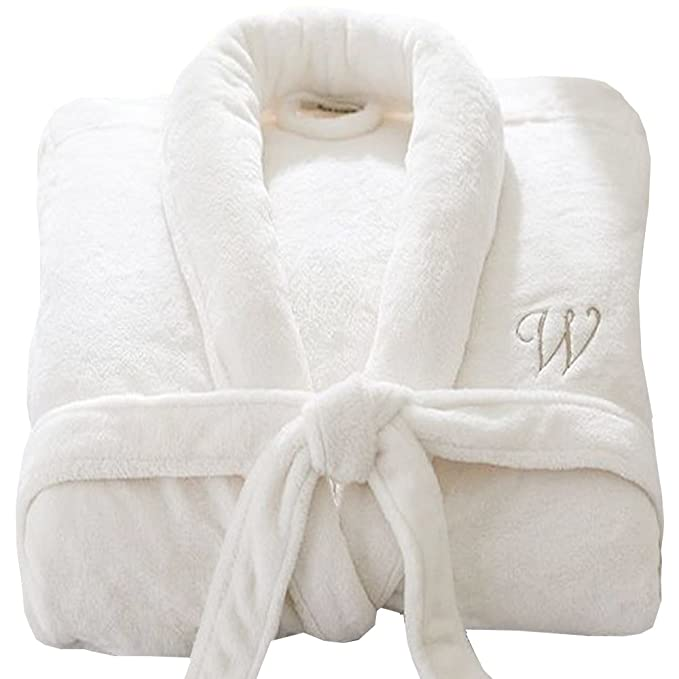 Personalised Bathrobe Custom with Your Text Embroidery on Luxury Velour  100% Cotton Terry Towel Bathrobes 953fa2646