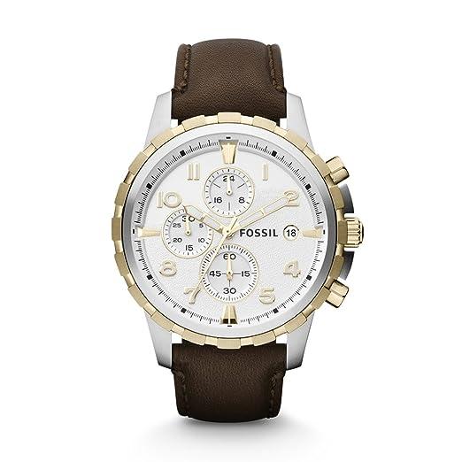 Fossil FS4788 - Reloj (Reloj de pulsera, Masculino, Acero inoxidable, Oro,