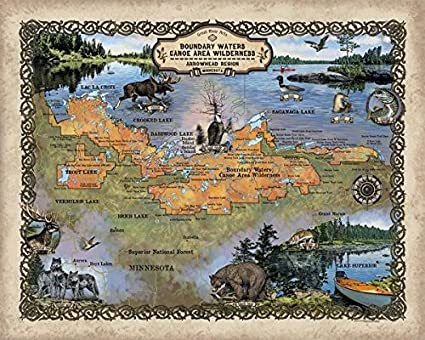 Amazon Com Great River Arts 256 Custom Map Of The Boundary Waters