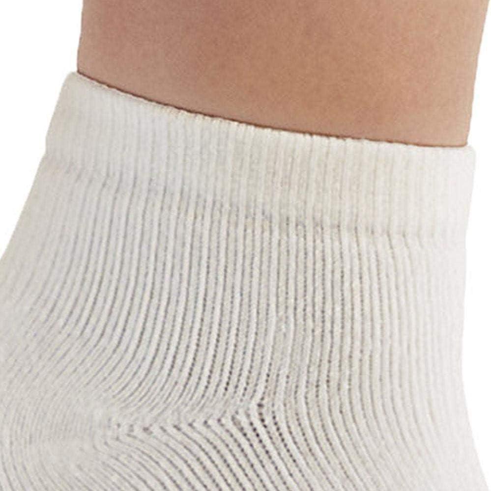 Ames Walker AW Style 140 Coolmax 20 30 mmHg Compression Anklet Socks White Large