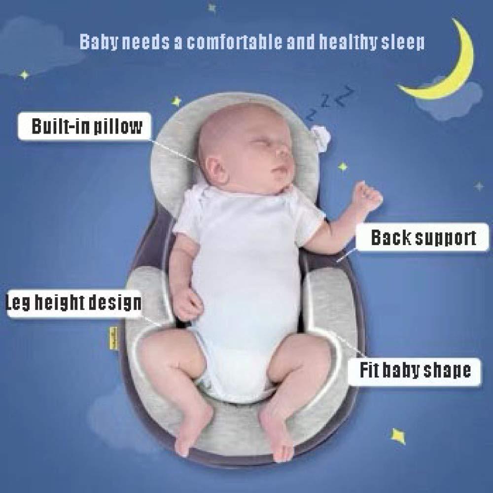 YANGGUANGBAOBEI Babyschlafhilfe Babyschlafhilfe-Stillmatratzen-Kissen Tragbare Baby-Krippe,Blue