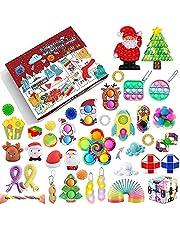 Fidget Advent Calendar 2021,24DAYS Christmas Sensory Fidget Packs with Push Pop-On-It Fidget Toy Set Surprise Gifts For Party,Christmas Countdown Calendar Toys Set Fidget Toy Box