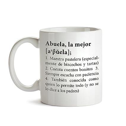 Taza con mensaje – Definición original de la mejor abuela – Estándar – Taza de café