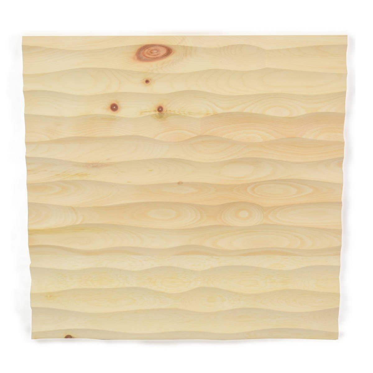 4betterdays Wandverkleidung aus Zirbenholz 33x33x2,8 cm (LxBxT) echte Handarbeit aus Südtirol