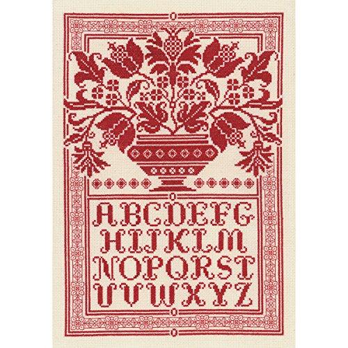 Folk Art Sampler Counted Cross Stitch Kit-10x14.75 14 Count ()