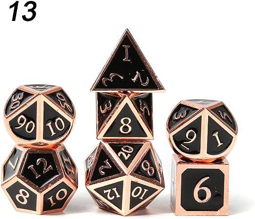 Juego de dados estándar, Juegos de dados de RPG Juegos de mazmorras y dragones de metal