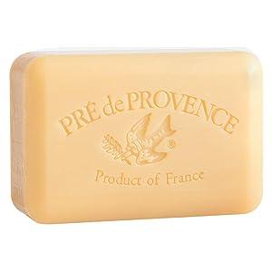 Pre de Provence Artisanal French Soap Bar Enriched with Shea Butter, Sandalwood, 250 Gram