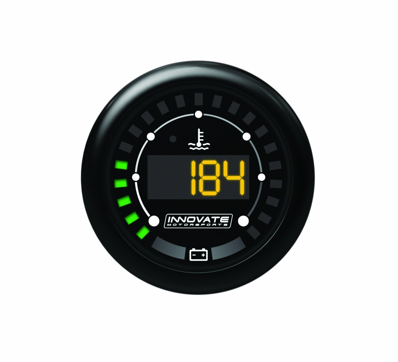 Innovate Motorsports 3853 MTX Digital Series Dual Function Water Temperature and Battery Voltage Gauge Kit