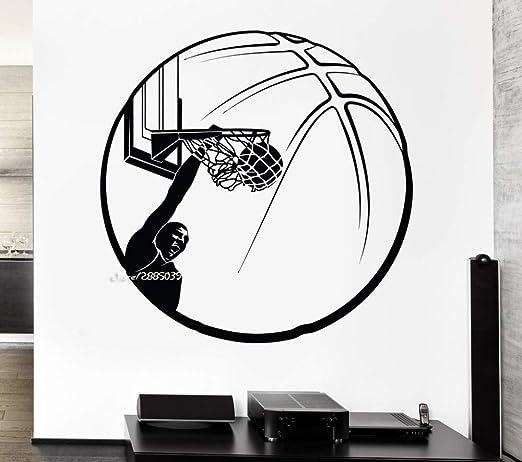 xinyouzhihi Baloncesto Vinilo Pegatinas de Pared Decoración ...