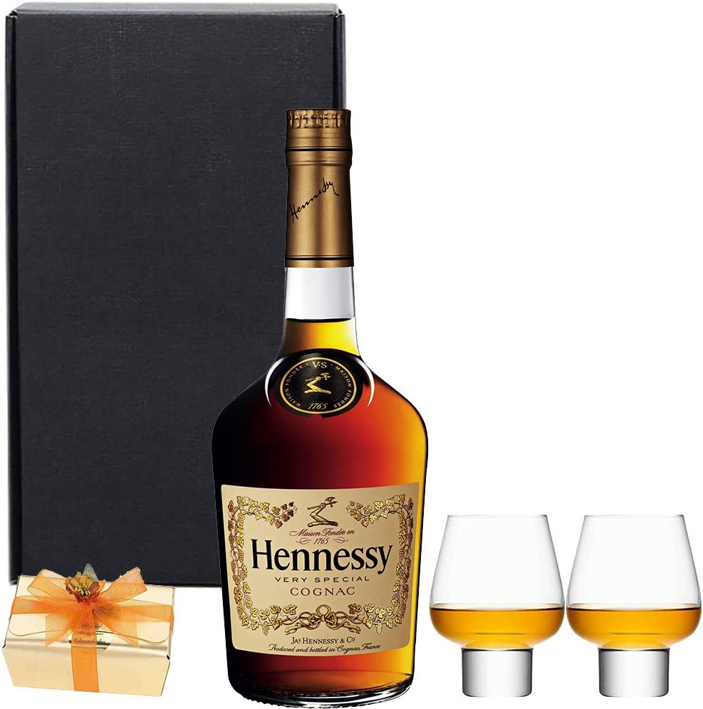 Ultimate Hennessy Cognac Gift Set In Matt Black Gift Box With Hand Crafted Gifts2drink Tag Amazon Co Uk Grocery