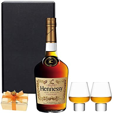 Ultimate Hennessy Cognac Gift Set in Matt Black Gift Box with Hand ...