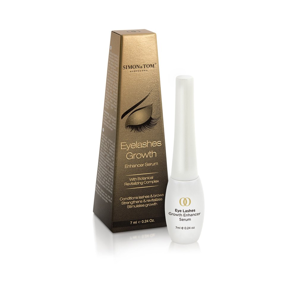 Simon & Tom Eyelashes Growth Serum for Longer, Thicker, Stronger Lashes and Brows with Argan Oil & Castor Oil 7 ml / 0.24 fl.oz