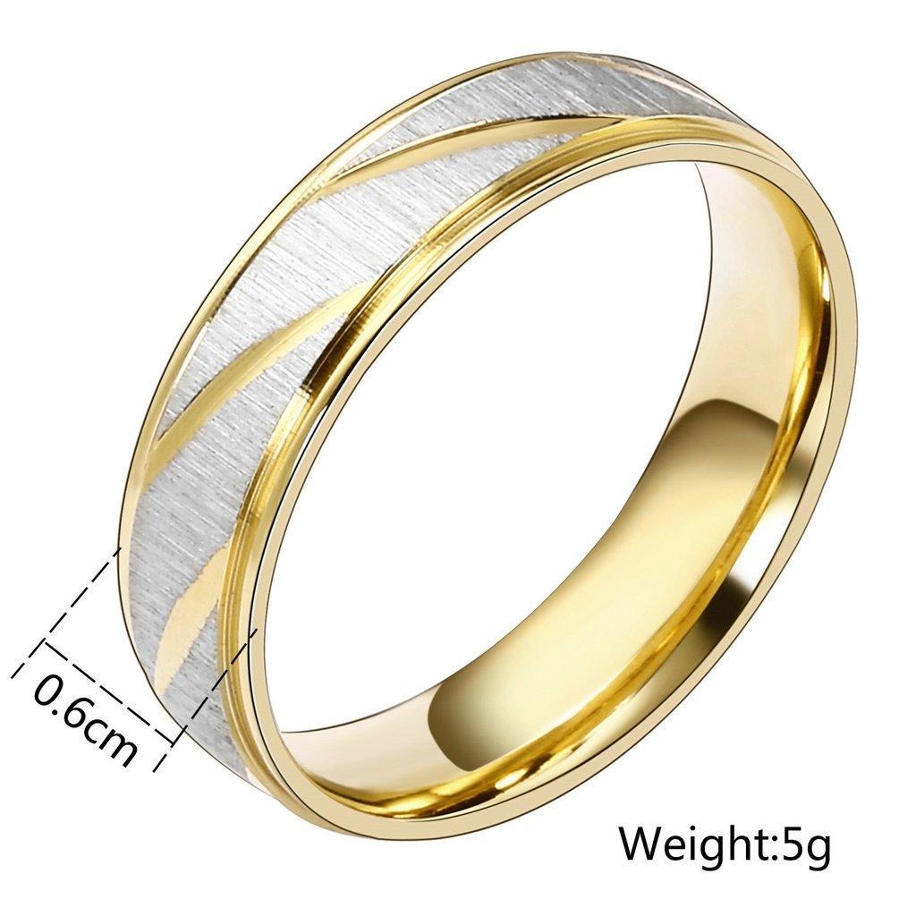 3383678d57c3 Daesar Joyería Ancho 6mm Acero Inoxidable Anillo Ring Plata Oro Amor Love  Pareja Pedida Compromiso Alianzas Boda para Hombre y Mujer  Amazon.es   Joyería