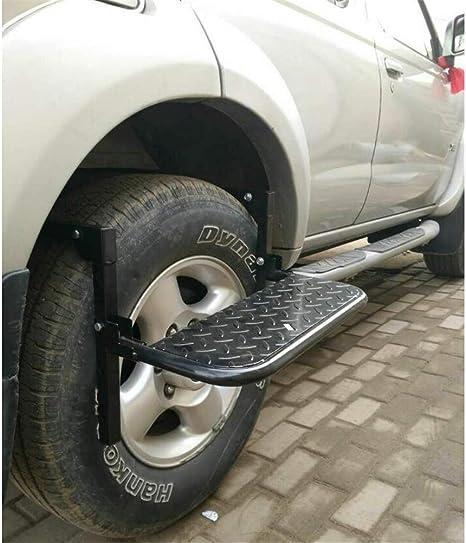 Regolabile Passo Servizio Pieghevole per Auto Dbtxwd Passo Pneumatico Ruota SUV Facile Accesso alla Rooftop Portapacchi Porta Passo Veicolo Fino Pedale