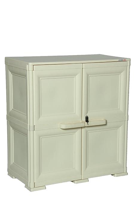 Cello Infiniti Medium Storage Cabinet Plain (Cream): Amazon.in ...