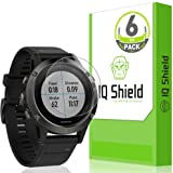 Garmin Fenix 5 Screen Protector (6-Pack), IQ Shield LiQuidSkin Full Coverage Screen Protector for Garmin Fenix 5 HD Clear Anti-Bubble Film