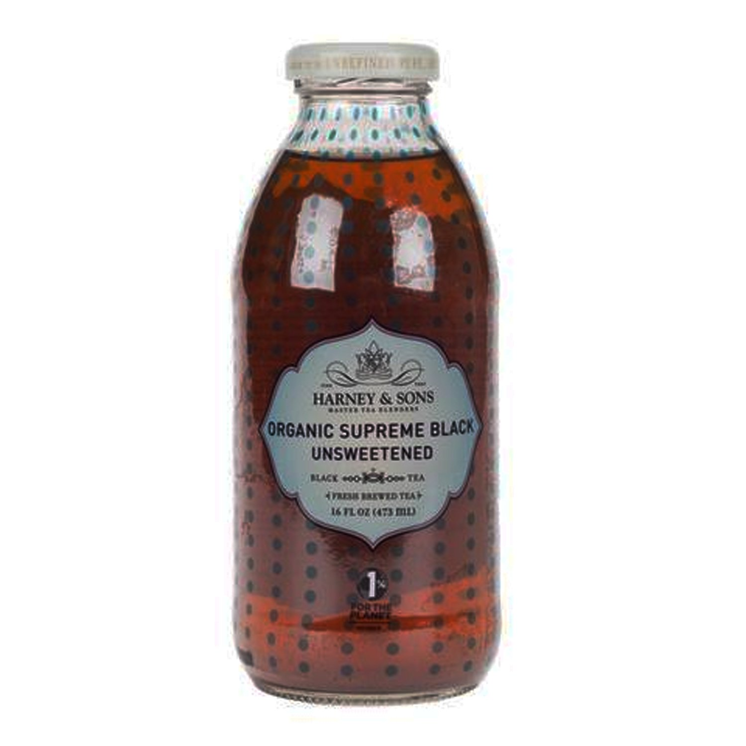 Harney & Sons - Organic Supreme Black Unsweetened Tea, 16 fl oz (12 Glass Bottles) by Harney & Sons (Image #1)
