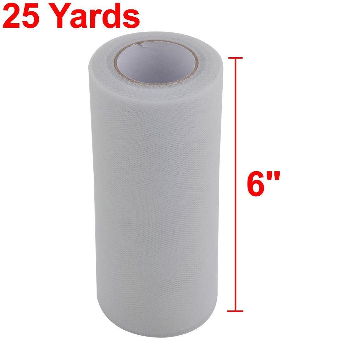 Amazon.com: eDealMax Poliéster Inicio de costura hecha a Mano DIY Ropa Tul carrete Rollo DE 6 pulgadas x 25 yardas gris claro: Health & Personal Care