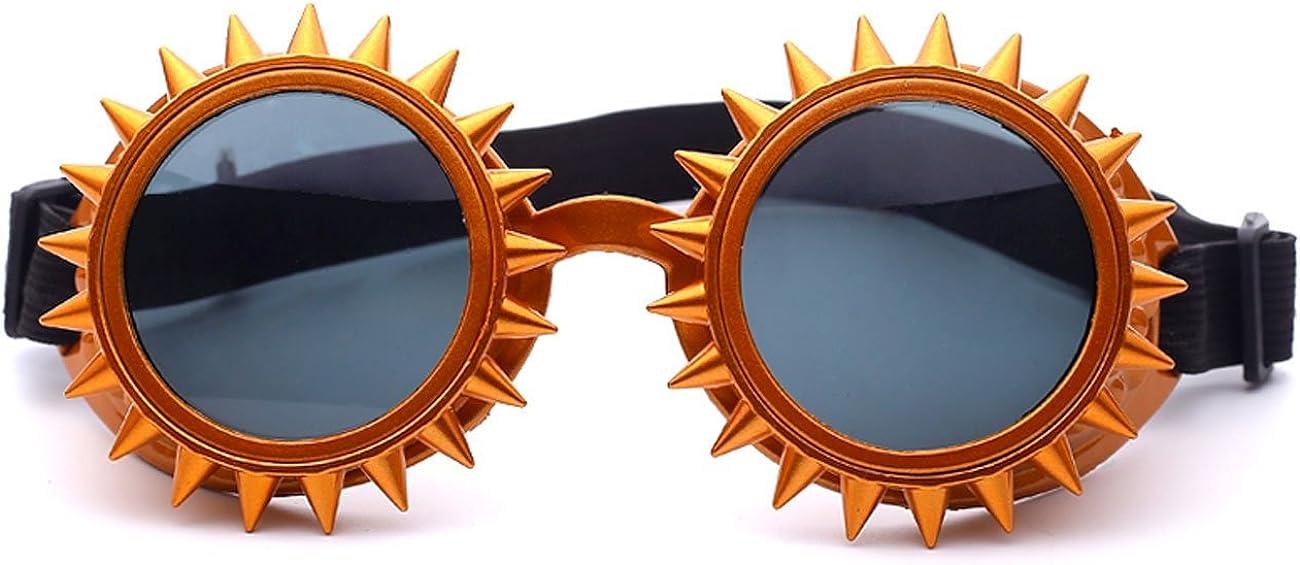 Rave Goggles Punk Cool Steampunk Glasses Retro Crazy Sunflower-Shape Sunglasses
