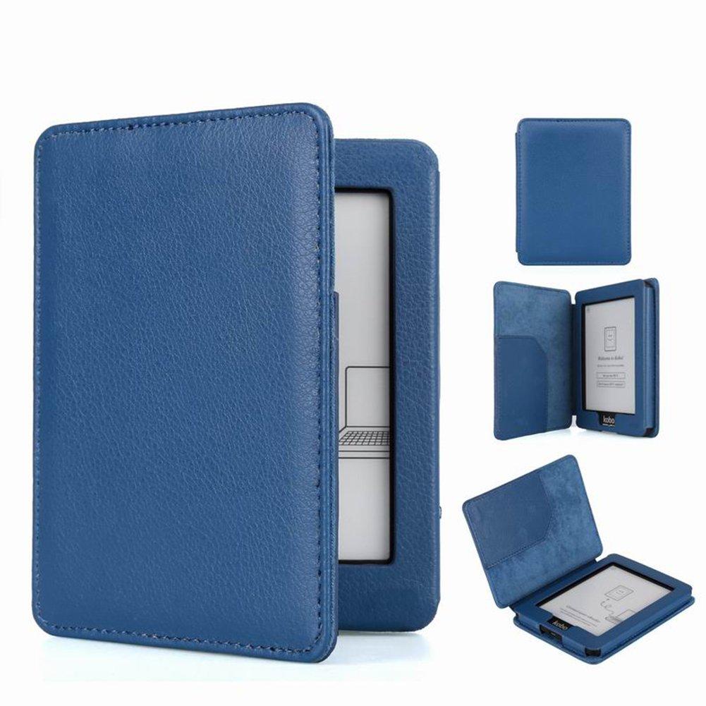 Meijunter Deep Blue PU Pelle protettore Marsupio Skin Caso Coprire Copertina Coperchio Case Cover per Kobo Mini eReader Junsi