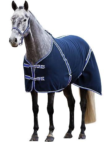Kerbl RugBe manta de forro polar Classic 145 negro azulado, ribete lila