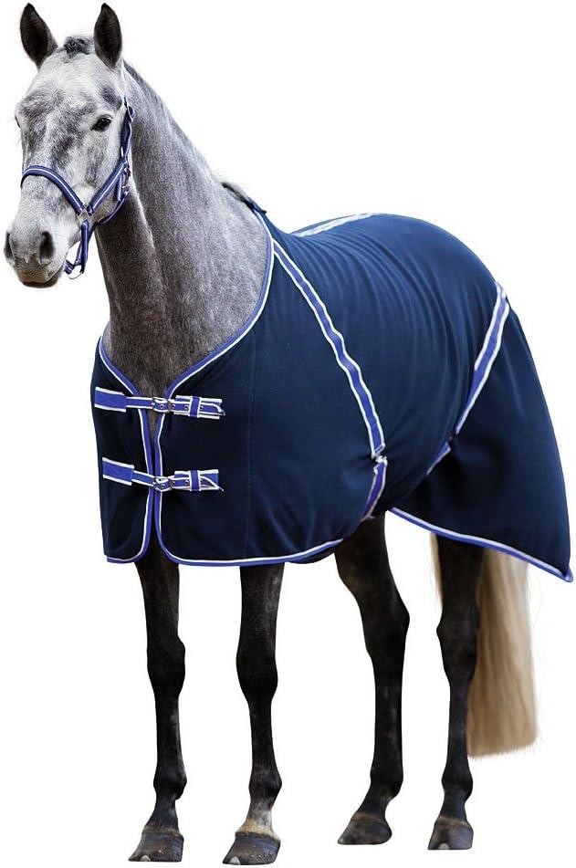 RugBe manta de forro polar Classic 135 negro azulado, ribete lila