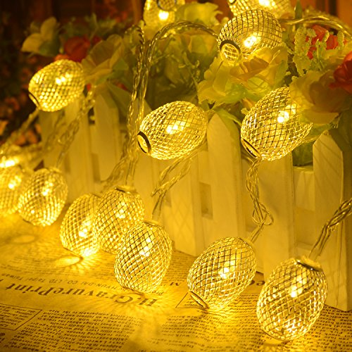 BlueFire Lantern Fairy Lights 31ft 50 LED Indoor String Lights Decorative Lights for Christmas Xmas Tree Path Party Holiday Party Patio Lawn (Warm White)