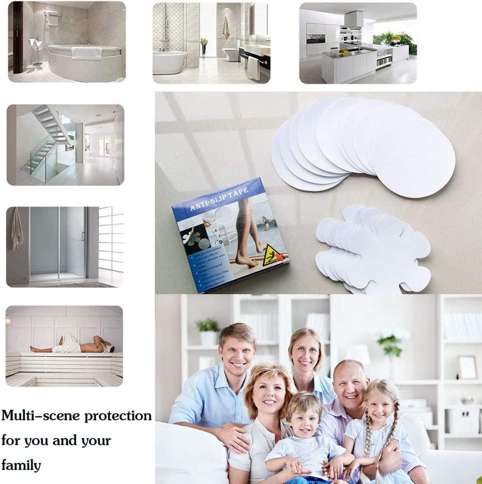 24 pcs Duschen und Badewannen Antirutschband Transparent Sticker Selbstklebend Anti-Rutsch Streifen f/ür Treppen