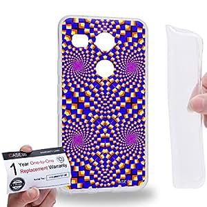 Case88 [LG Nexus 5X (2015)] Gel TPU Carcasa/Funda & Tarjeta de garantía - Art Fashion Visual Art Effect 29