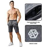 Gerlobal Men's Workout Shorts Gym Training Acitve
