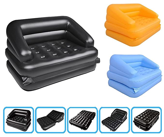 Amazon.com: Pure Comfort portátil 5 in1 Aire inflable cama ...