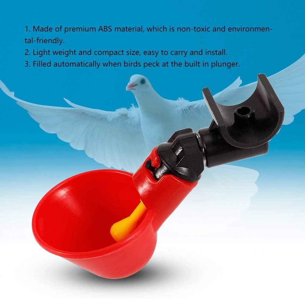Fixed Screw Water Bowl Jeffergarden 5Pcs Stainless Steel Automatic Chicken Poultry Rabbit Drinker Waterer Nipple Drinking Water Tool