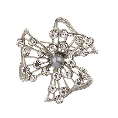 9599c5876 Image Unavailable. Image not available for. Color: YAZILIND Rhinestone  Maple Leaf Brooch Alloy Pins Hollow Flower Shape Jewelry for Women