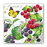 #6: Michel Design Works 20-Count 3-Ply Paper Cocktail Napkins, Berry Patch