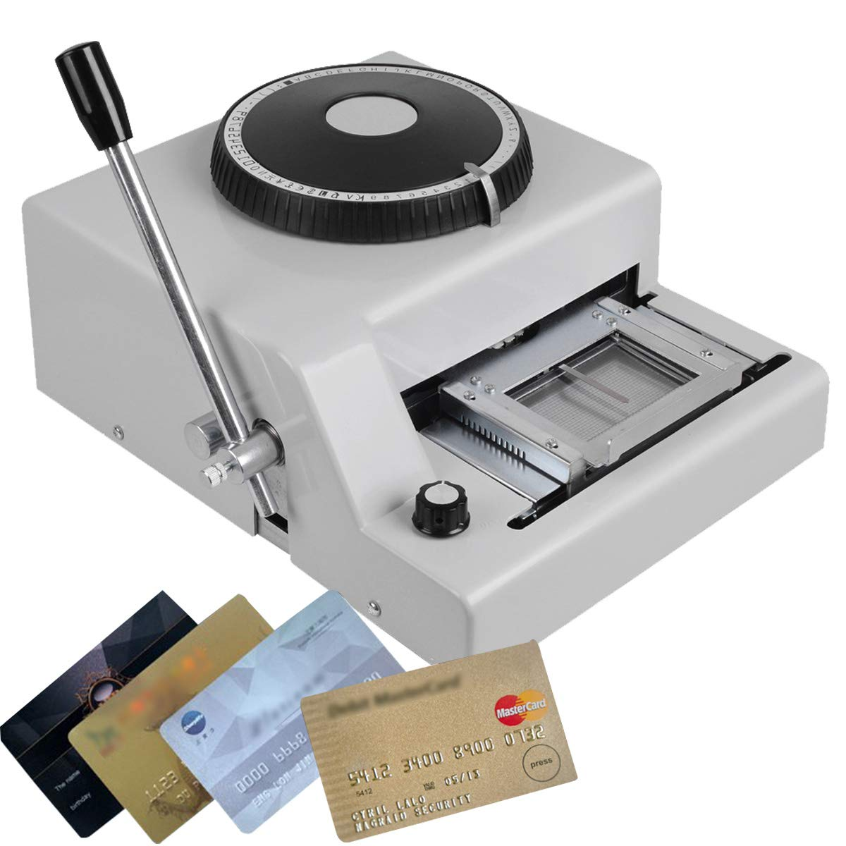 CARESHINE 72 Character Manual Embossing Machine PVC Card Embosser for VIP Card Club Card Printing Ship from USA 2-5 Days Delivery