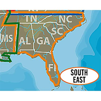 Amazoncom C Map Lake Insight Hd South East Us Coverage Area - Lakes-in-the-us-map